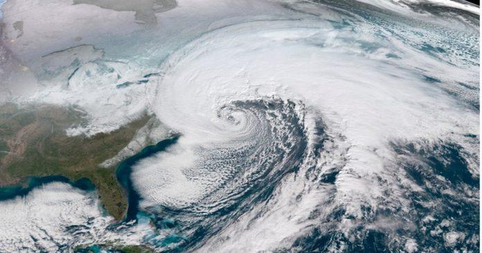 Cyclone Vayu satellite image