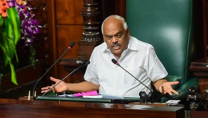 Karnataka Trust Vote Assembly Speaker KR Ramesh - The Federal