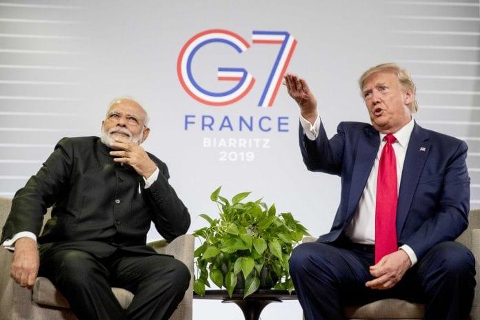Modi, Trump, France, G-7 summit, India-US trade, tariffs, Kashmir, Article 370, Pakistan