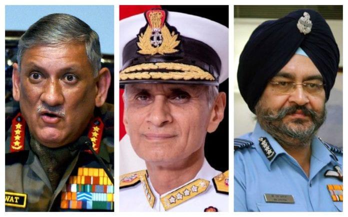 Chief of Defence Staff, CDS, advisor, Indian military, army, navy, air force, head, Bipin Rawat, Karambir Singh, BS Dhanoa