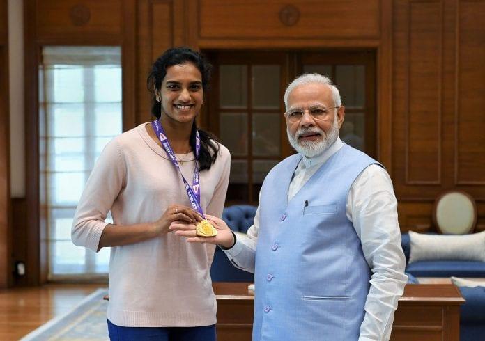 PM Modi, Kiren Rijiju, PV Sindhu, World Championships, Nozomi Okuhara, B Sai Praneeth, Badminton,