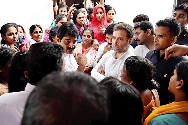Rahul Gandhi starts distributing kits to Flood hit Wayanad Families