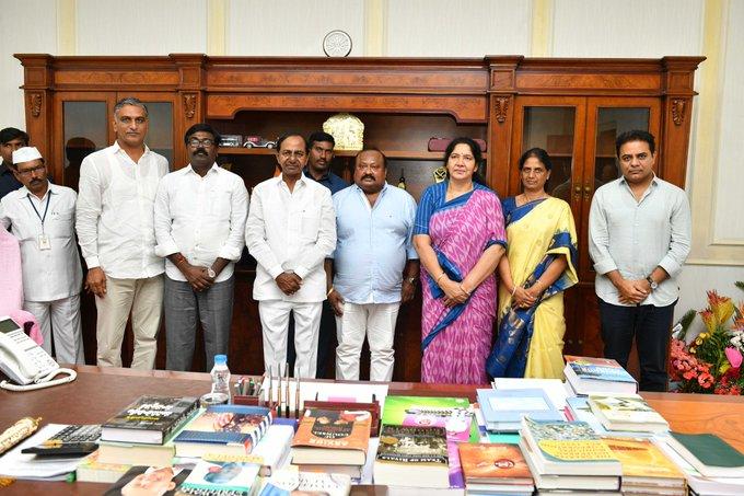 Chandrashekar Rao, KT Rama Rao, T Harish Rao