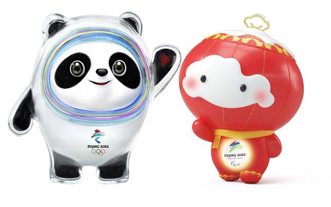Beijing Olympics 2022 mascots.
