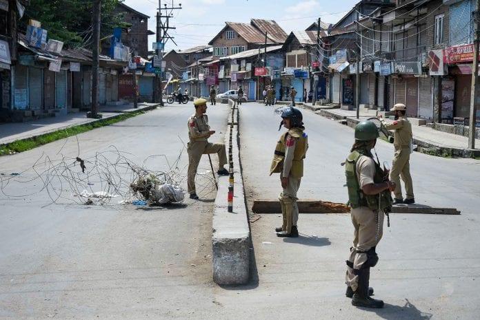 Kashmir security restrictions