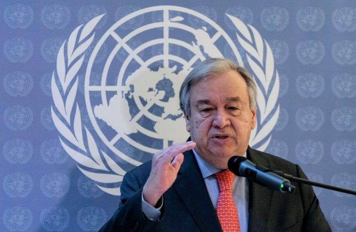 UN Secretary-General Antonio Guterres, coronavirus,