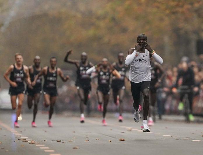 Eliud Kipchoge, marathon, Olympic Champion, International Association of Athletics Federations, two-hour marathon barrier