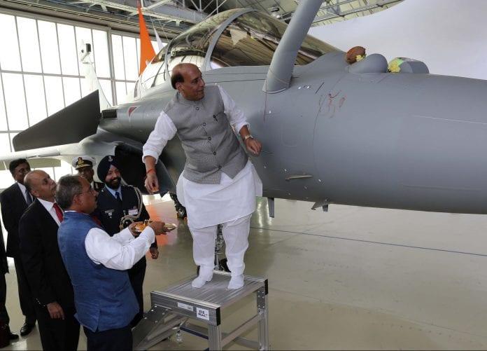 Defence minister, Rajnath Singh, Rafale fighter jets, shastra puja, durga puja, lemons, coconuts, prayers, anti-nationals, Amit Shah