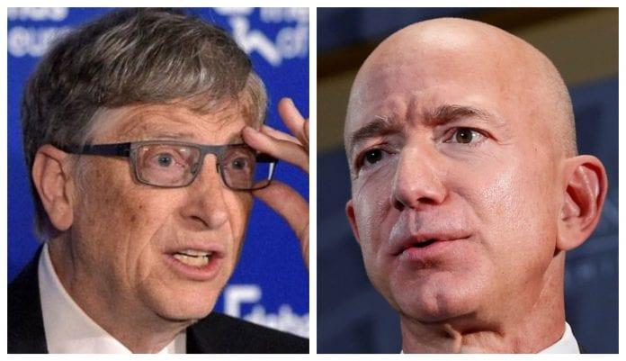 Jeff Bezos, bill gates, Microsoft, Amazon,