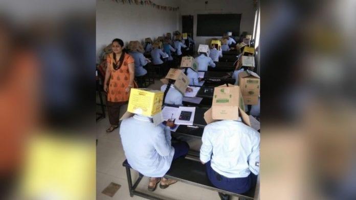 students, wear cartons over heads, exams, Karnataka, Haveri, Pre-University College, Bhagat Pre-University College, criticism, education minister