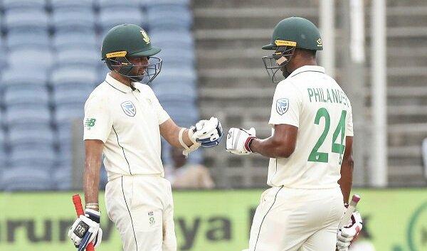 South Africa tour of India, Temba Bavuma, Dean Elgar, Keshav Maharaj, Vernon Philander, second Test, day three