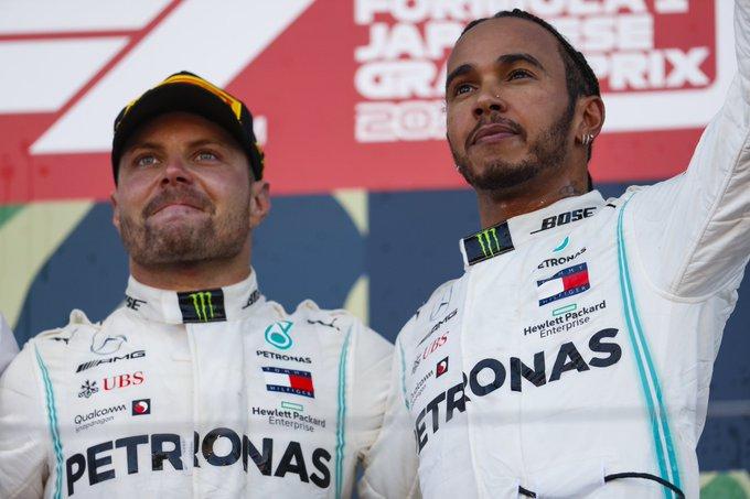 Lewis Hamilton, Valtteri Bottas, Mercedes, Japanese Grand Prix, Mexico race, sixth world championship title