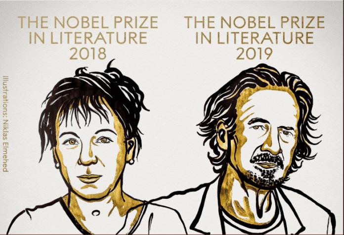 Nobel Prize for Literature, Polish writer, Olga Tokarczuk, 2018 Nobel Prize, Peter Handke, 2019 Nobel Prize, Swedish Academy, sexual harassment scandal, #MeToo movement
