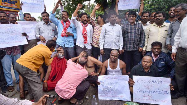 TSRTC, Telangana bus strike, bus conductor