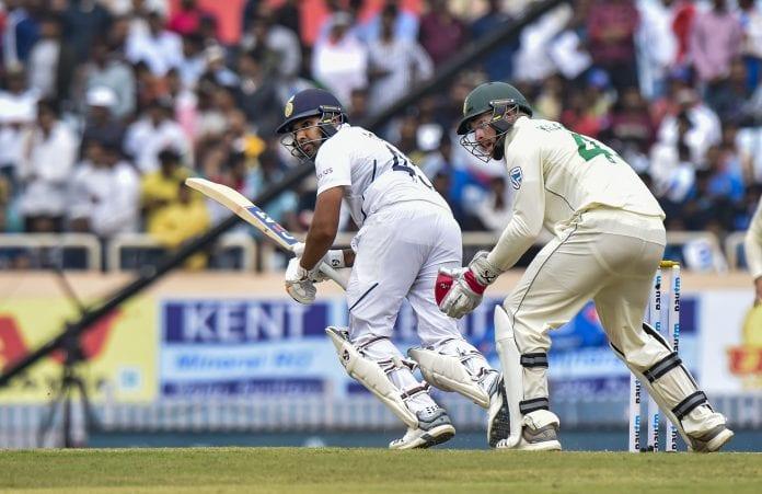 third and final Test, South Africa tour of India, Rohit Sharma, Ajinkya Rahane, Kagiso Rabada, Mayank Agarwal, Cheteshwar Pujara, Virat Kohli