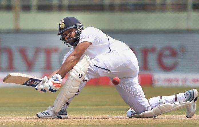 India, South Africa, first innings, lead, Rohit Sharma, Ravichandran Ashwin, Mayank Agarwal, Kagiso Rabada, Senuran Muthusamy, Keshav maharaj South Africa tour of India, tests