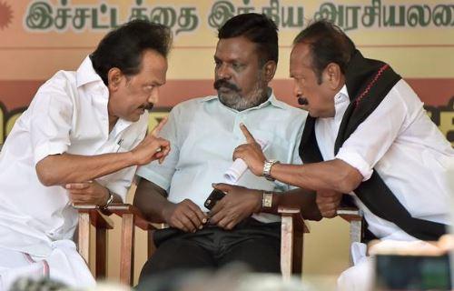 DMK, Thol Thirumavalavan, VCK, patta, MK Stalin