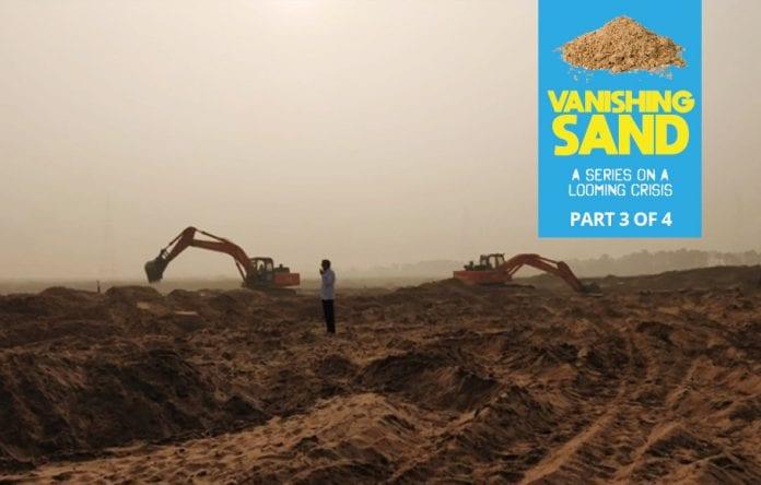 Sand mining, illegal mining