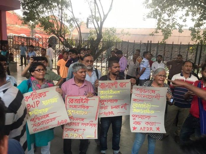 Bangladeshi migrants, illegal immigrants, Muslims, rag pickers, garbage segregation, Bangalore, detain, police, raids, camps, tents, Kolkata, deportation, transport, activists, protests, Howrah Express, train