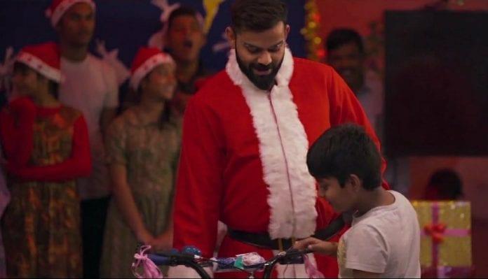 Virat Kohli, Santa Claus, Star Sports, Christmas, West indies vs India, West Indies tour of India