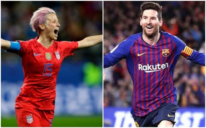 Ballon dOr, Lionel Messi, Megan Rapinoe, Luka Modric, Cristiano Ronaldo, Virgil van Dijk, Argentina, Barcelona, Copa America
