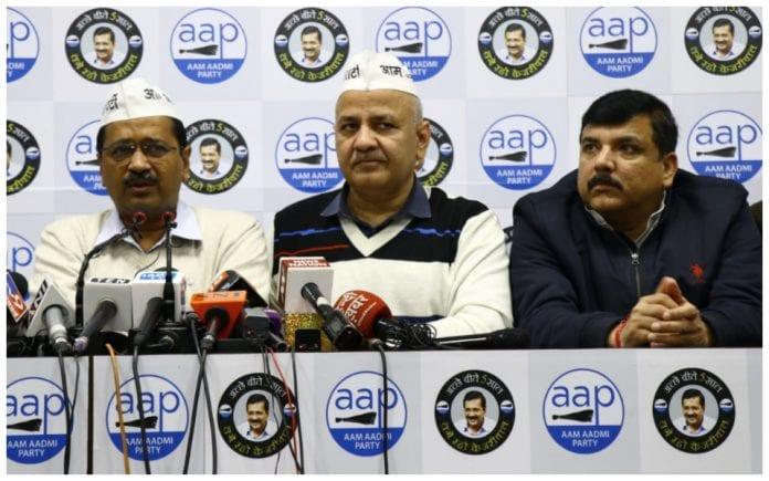 Arvind Kejriwal Manish Sisodia Sanjay Singh AAP leaders