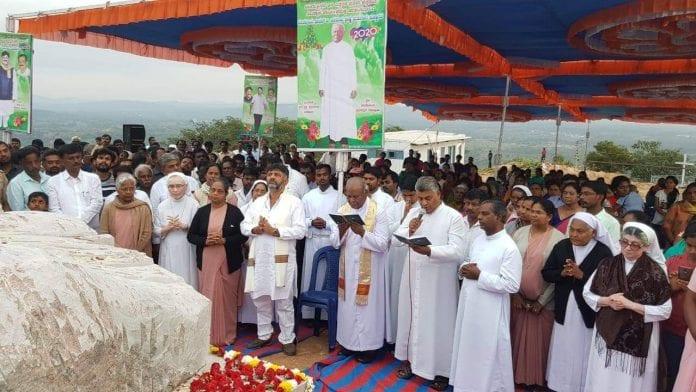 DK Shivakumar Jesus statue Kanakapura