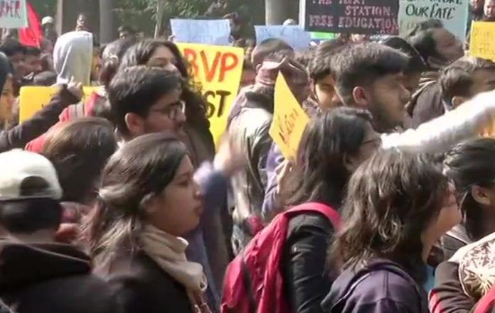 JNU, students' protest, violence