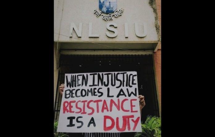 NLSIU students protest