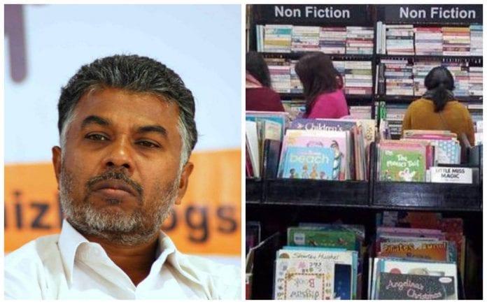 eviction, writer, author, Chennai Book Fair, anti-national, controversial topics, books, Perumal Murugan, BAPASI, Booksellers' and Publishers' Association of South India, RS Shanmugam