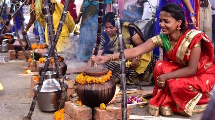 harvest festival, Makara Sankranti, Pongal, paddy, sugarcane, rabi crops, Maatu Pongal, cows, Kaanum Pongal, Boghi, farmers, Jallikattu, bulls