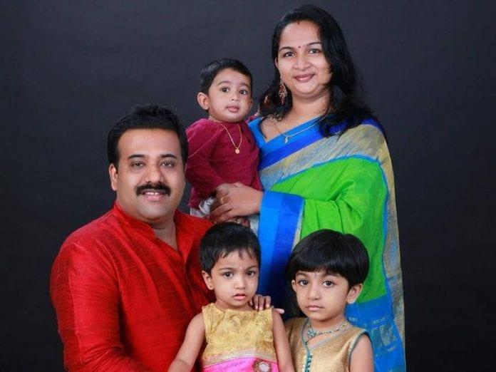 Praveen Krishnan Nair and family