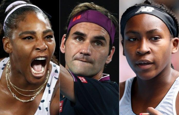Coco Gauff, Naomi Osaka, Novak Djokovic, Roger Federer, Serena Williams, Australian Open, Venus Williams, Ashleigh Barty