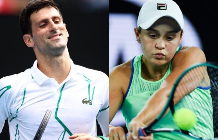 Ashleigh Barty, Novak Djokovic, Rod Laver Arena, Australian Open, Roger Federer,