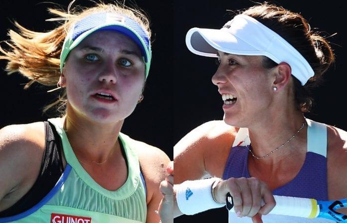 Gabrine Muguruza, Simona Halep, Sofia Kenin, Ashleigh Barty, Australian Open, Australian Open finals