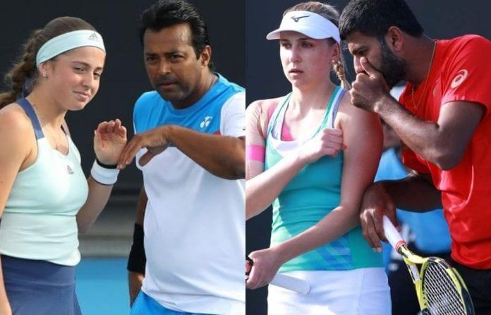 Leander Paes, Rohan Bopanna, Jelena Ostapenko, Nadiia Kichenok, Australian Open, second round, Rod Laver Arena, Melbourne Park, mixed doubles