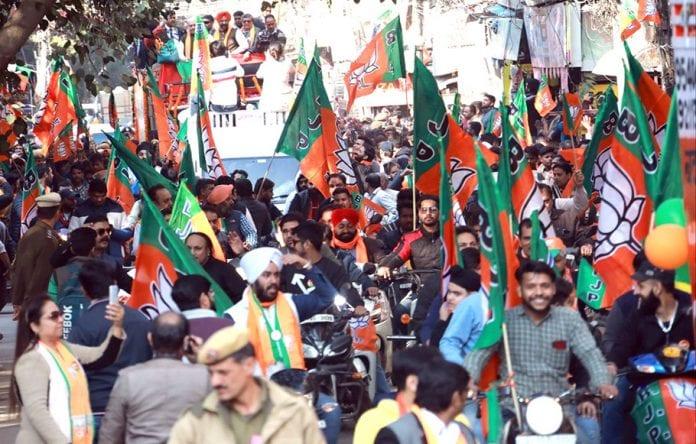 BJP RSS Amit Shah Delhi election