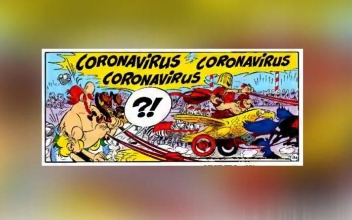 Asterix, Obelix, comic, coronavirus, chariot race, Roman villain, racer, China, Wuhan