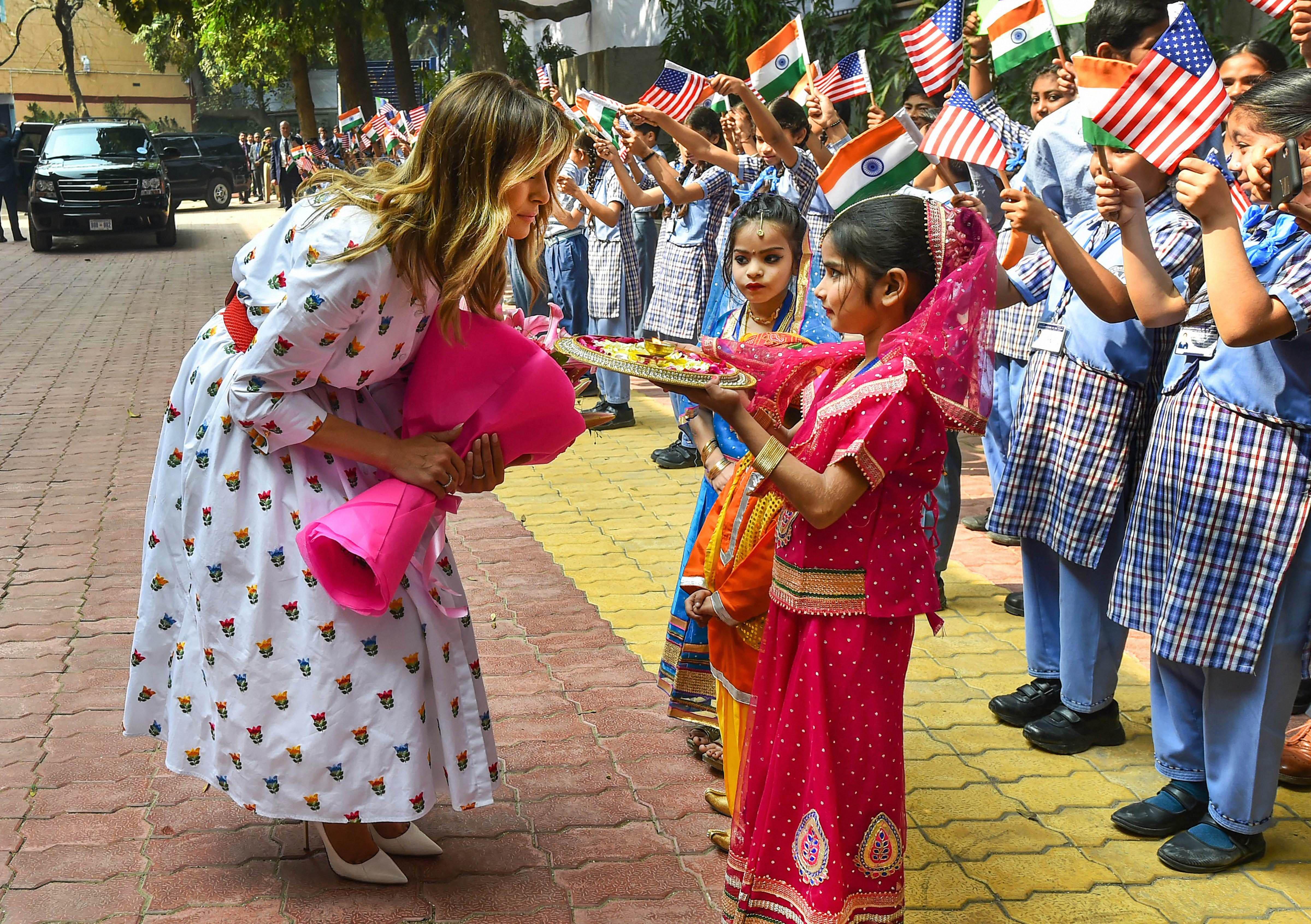Melania Trump, FLOTUS, Happiness Class, Trump India Visit, Aam Aadmi Party,