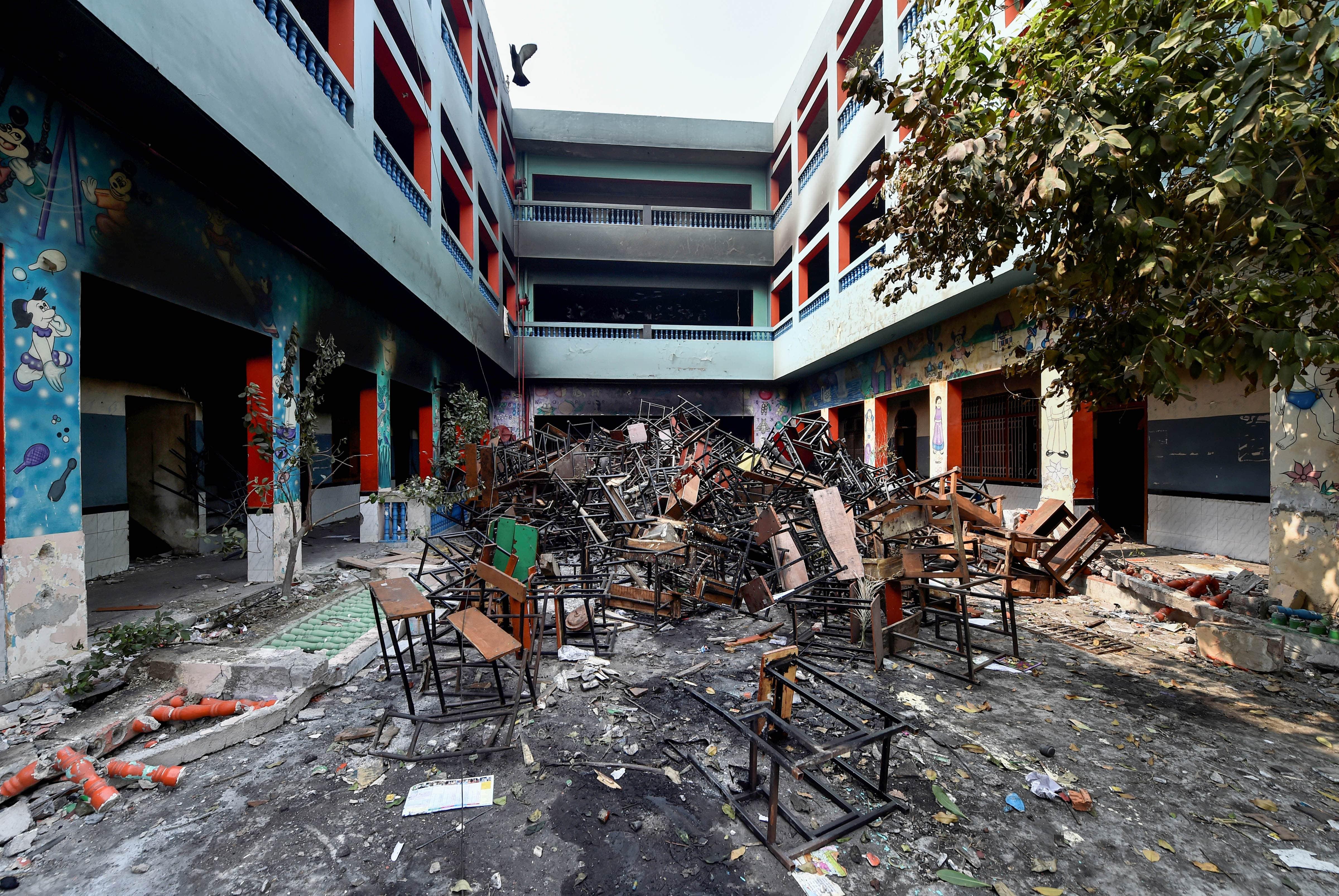 Delhi schools, Delhi riots, Delhi violence, Delhi Police, Schools vandalised