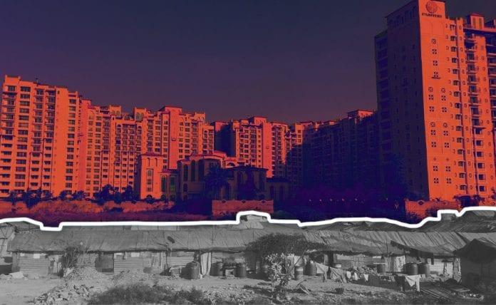 Slums high rises in Bengaluru