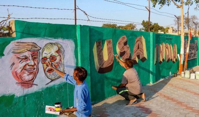 eviction notice, slums, families, Motera stadium, US President Donald Trump, Narendra Modi, roadshow, Ahmedabad, India visit, Sabarmati Ashram