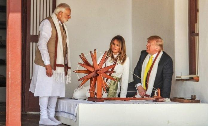 Trump in Sabarmati