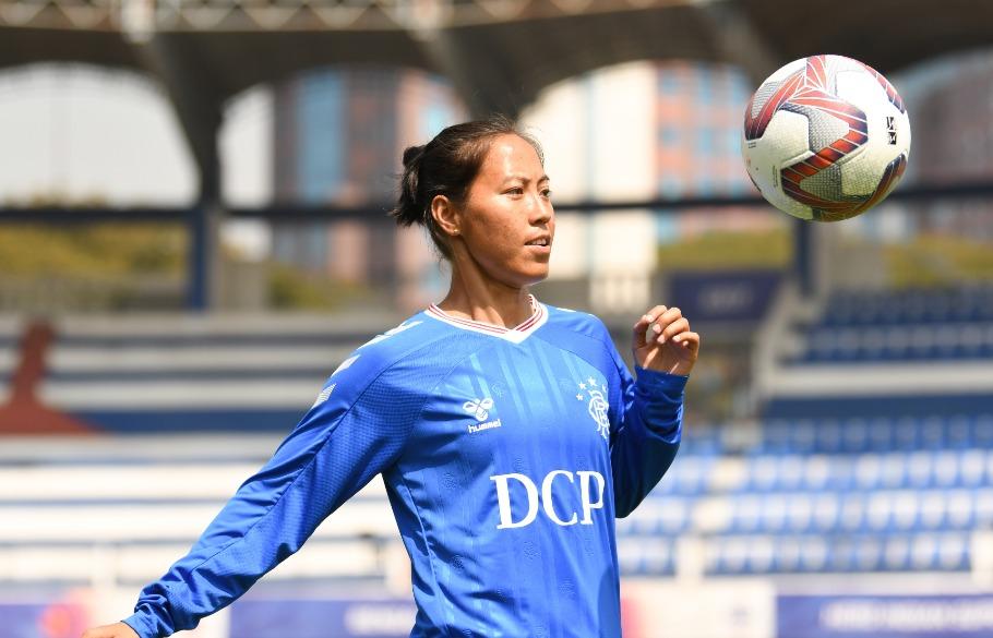 Ngangom Bala Devi, women's football, Scottish Women's Premier League Cup, Rangers FC