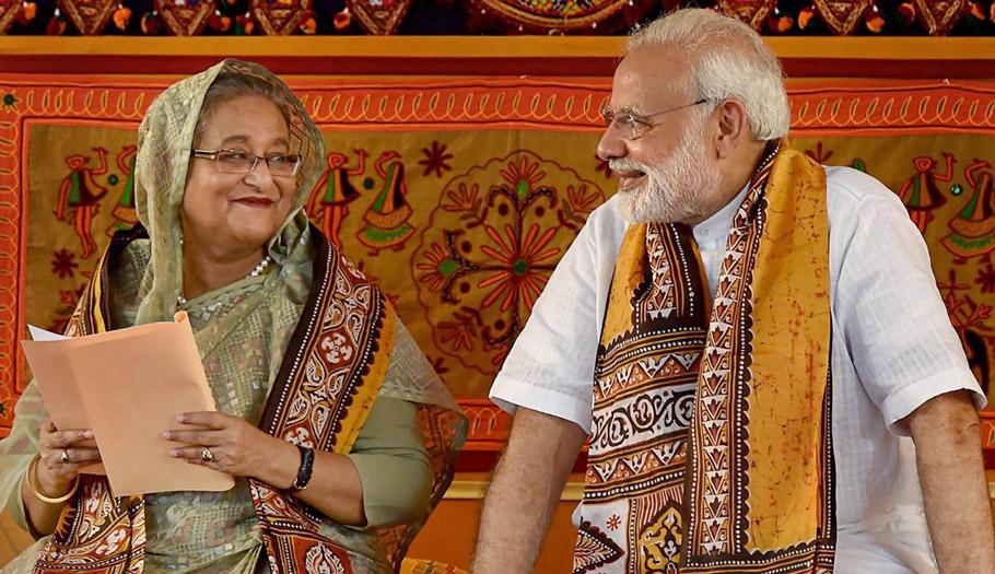 Bangladesh PM Sheikh Hasina Indian PM Narendra Modi