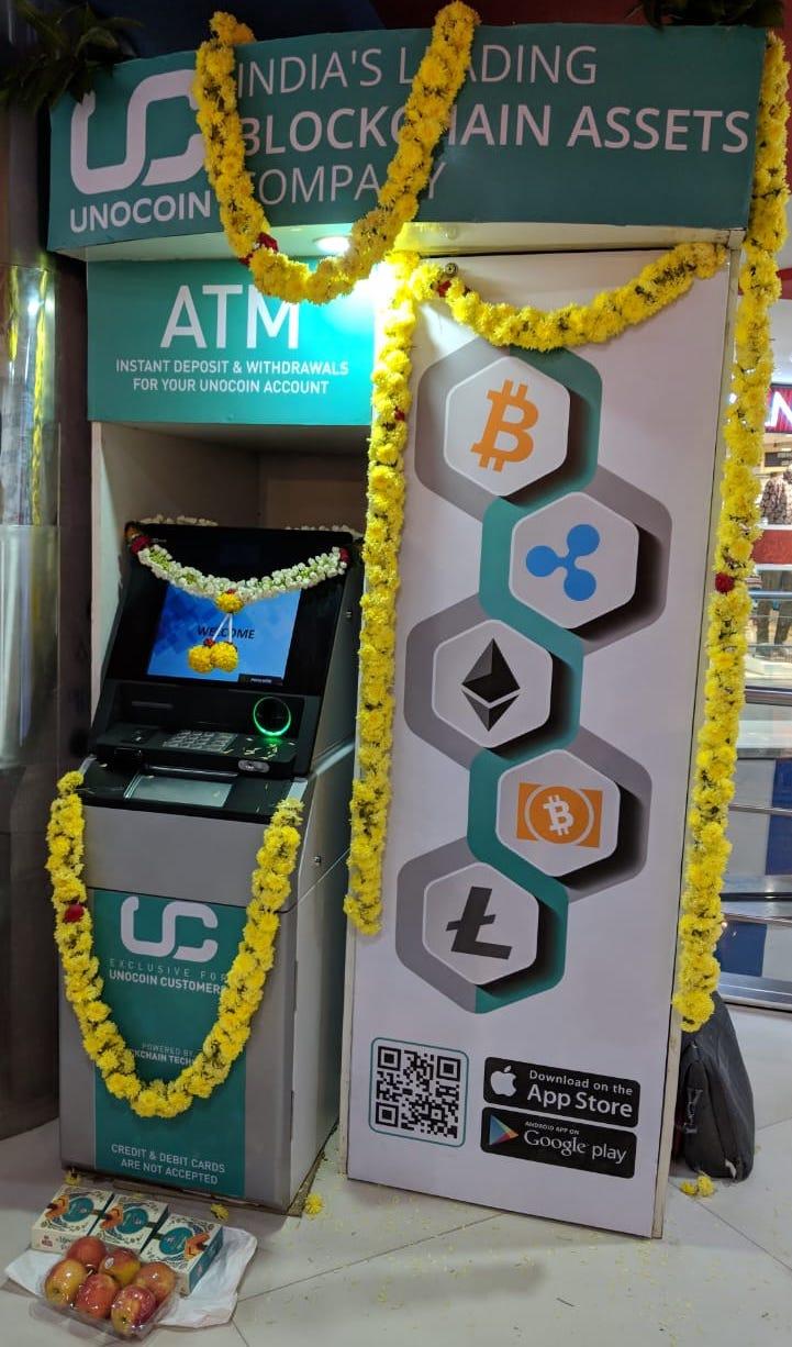 Crypto Unocoin ATM Bitcoin