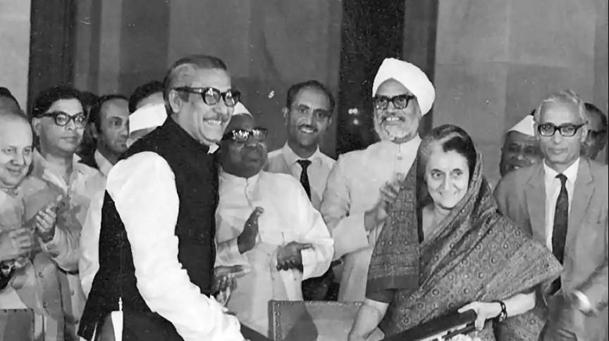 Mujibur Rehman Indira Gandhi India Bangladesh