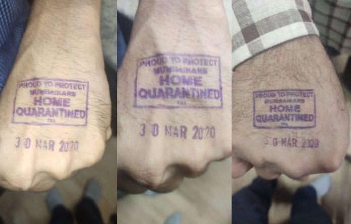 quarantine stamping, bengaluru, public places, coronavirus