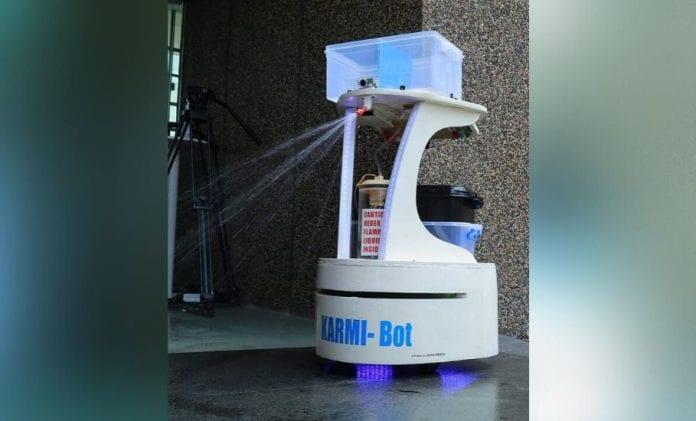 Karmi-bot, Robot, Asimov roboics, coronavirus, COVID-19, Kerala,