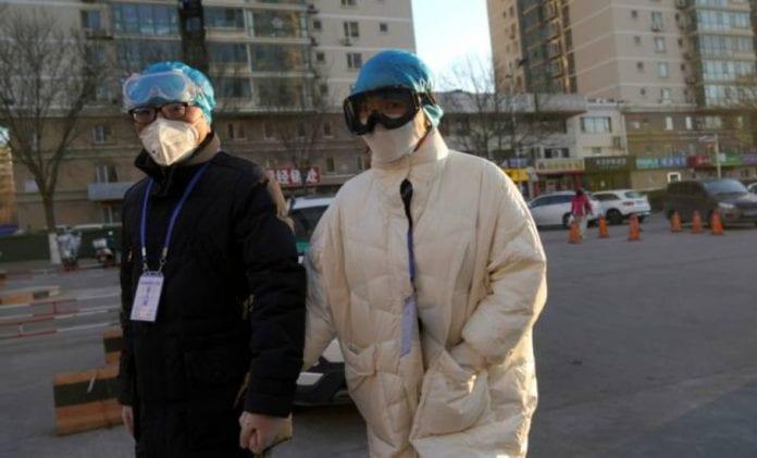 China, Wuhan, coronavirus, COVID-19, pandemic, police, medical staff